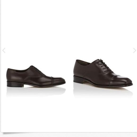 Salvatore Ferragamo Shoes Italian Luce Leather Balmoral 75 Ee